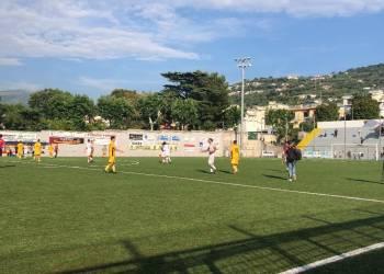Sorrento vs Real Agro Aversa, vista del campo a fine partita