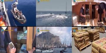 Il veliero intercettato dalla GdF di Palermo con le 6 tonnellate di hashish