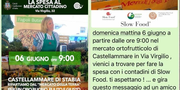 Castellammare di Stabia: domenica al mercato Slow Food