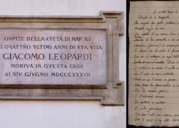 Napoli omaggia Leopardi: dal 1837 è ancora nel cuore della città