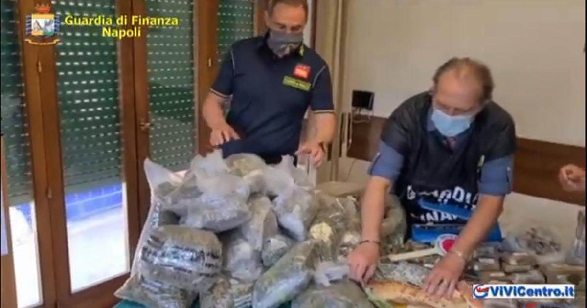 GdF Napoli, sequestrati oltre 22 kg tra hashish e marijuana, 3 arresti