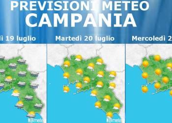 Meteo 19-21 Luglio Campania