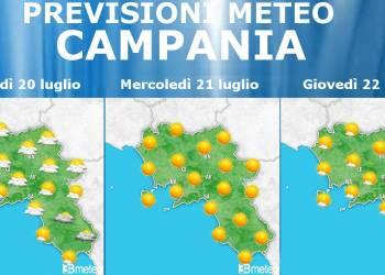 Meteo 20-22 Luglio Campania – Napoli