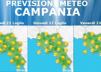 Meteo 21-23 Luglio Campania