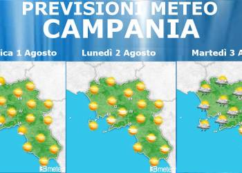 Meteo Campania 1-3 Agosto
