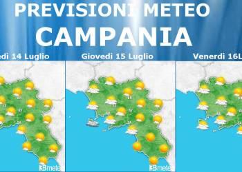 Meteo Campania 14-15-16 luglio