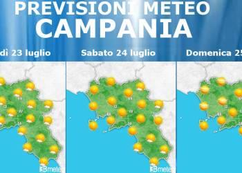 Meteo Campania 23-25 luglio