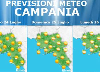 Meteo Campania 24-26 Luglio