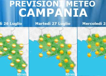 Meteo Campania 26-28 Luglio