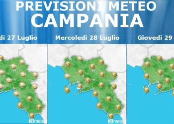 Meteo Campania 27-29 Luglio