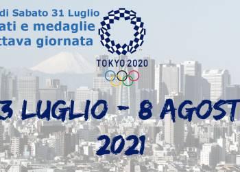 Olimpiadi Sabato 31 Luglio, Tokyo, Risultati e medaglie dell'ottava giornata