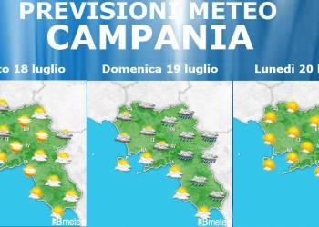 Previsioni Meteo Campania 18-19-20 luglio