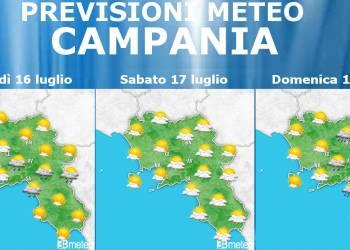 Previsioni meteo campania 16-17-18 luglio