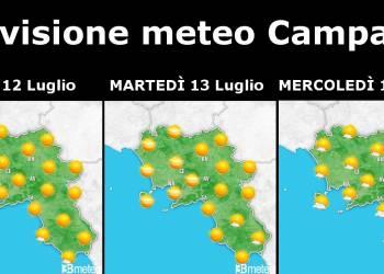 previsioni meteo campania 12-13-14 luglio