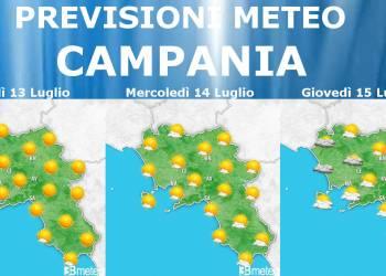 previsioni meteo campania 13-14-15 LUGLIO