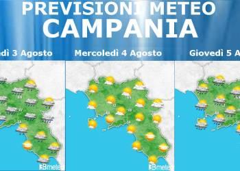 Meteo Campania 3-5 Agosto