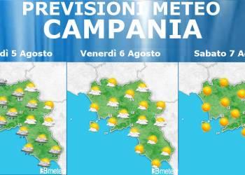 Meteo Campania 5-7 Agosto