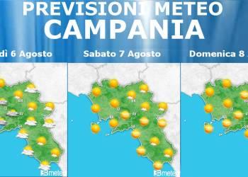 Meteo Campania 6-8 Agosto: La tregua concessa dal caldo avrà vita breve in quanto già domenica la colonnina di mercurio tornerà ad aumentare