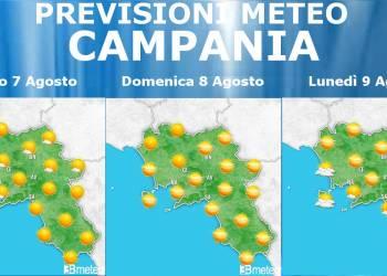 Meteo Campania 7-9 Agosto