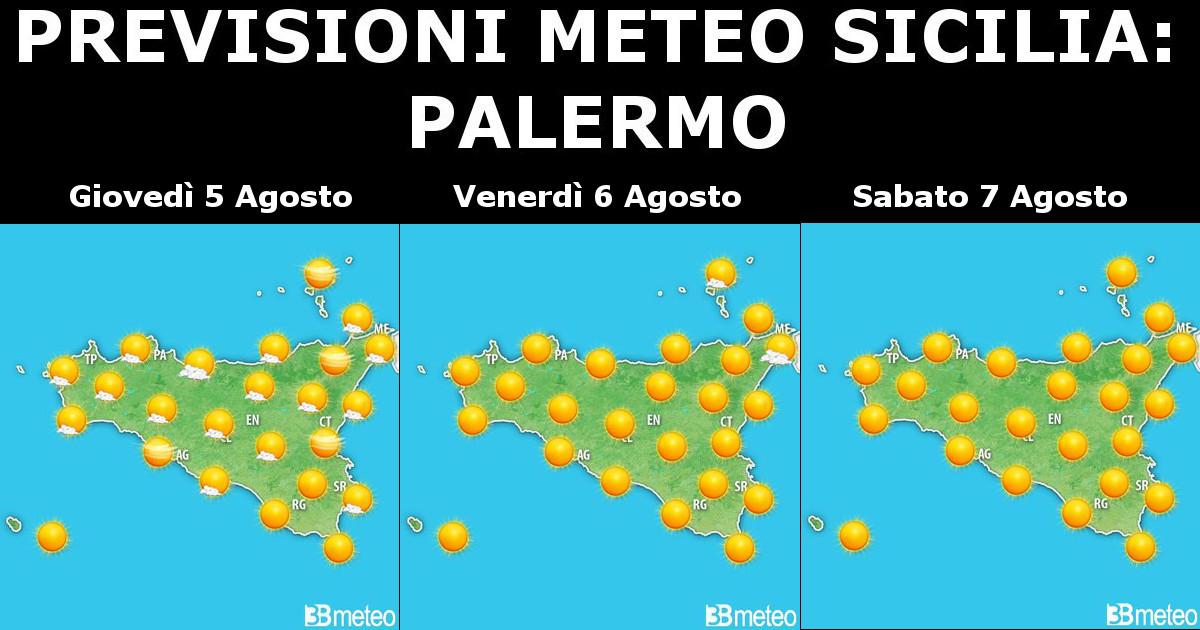 Previsioni Meteo Sicilia 5-7 Agosto