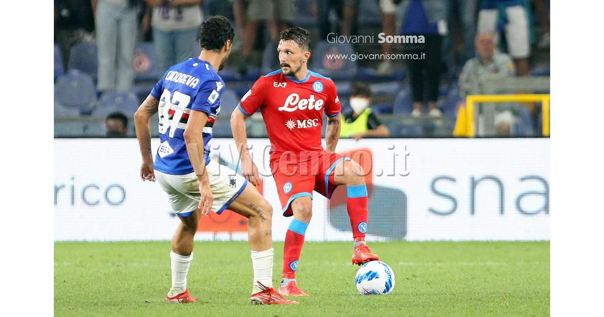 6 Sampdoria Napoli Calcio Serie A 2021 2022 Mario Rui