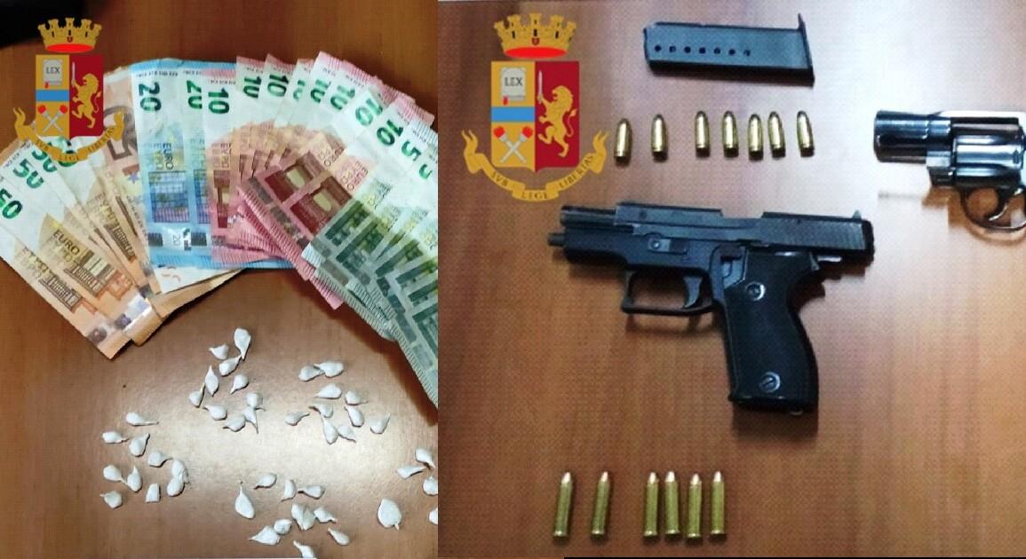 Arresti polizia in manette soggetti per droga e armi