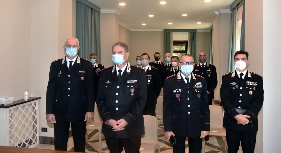 """Il saluto di benvenuto ieri del Comandante interregionale Carabinieri """"Culqualber"""" ai nuovi Comandanti"""