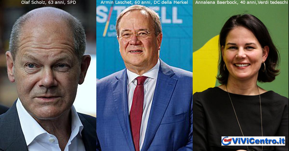 Oggi si vota in Germania, i 3 principali candidati