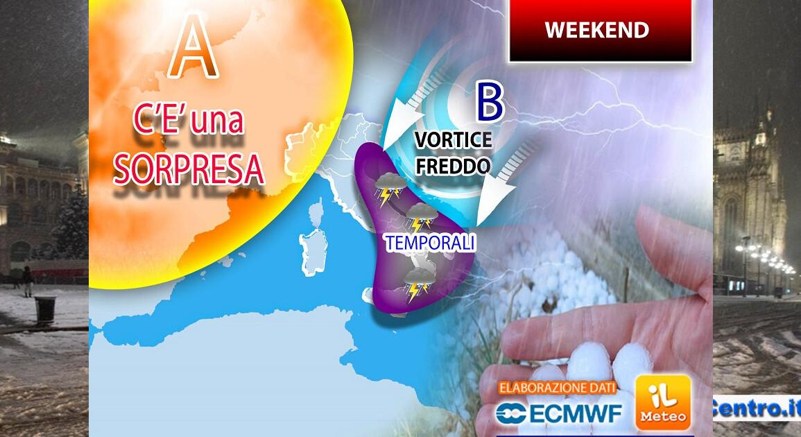 Weekend con piogge battenti al Sud