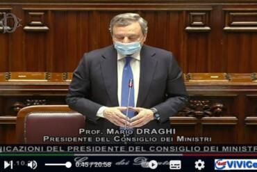 Il discorso di Draghi alla Camera e al Senato prima del Summit Europeo